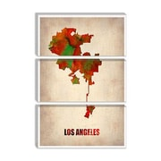 iCanvas 'Los Angeles Watercolor Map' by Naxart Graphic Art on Canvas; 12'' H x 8'' W x 0.75'' D