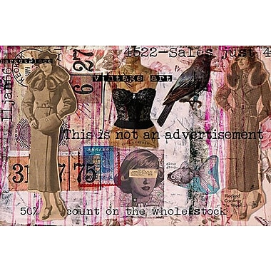 iCanvas 'Vintage Fashion #3' by Luz Graphics Graphic Art on Canvas; 26'' H x 40'' W x 0.75'' D