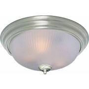 Volume Lighting 3 Light Ceiling Fixture Flush Mount; Brushed Nickel