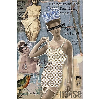 iCanvas 'Vintage Fashion #4' by Luz Graphics Graphic Art on Canvas; 12'' H x 8'' W x 0.75'' D