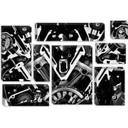 iCanvas Cars and Motorcycles Engine Front Grayscale Graphic Art on Canvas; 8'' H x 12'' W x 0.75'' D