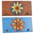 Wilco Flower Metal 2 Wall Hooks (Set of 2)