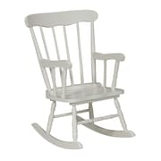 International Concepts Juvenile Kids Rocking Chair; Linen White