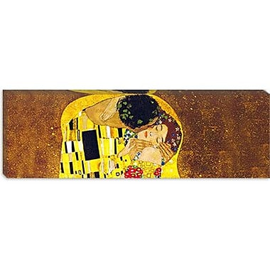 iCanvas 'The Kiss' by Gustav Klimt Painting Print on Wrapped Canvas; 12'' H x 36'' W x 1.5'' D