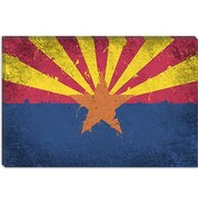 iCanvas Arizona Flag, Grunge Painted Graphic Art on Canvas; 18'' H x 26'' W x 1.5'' D