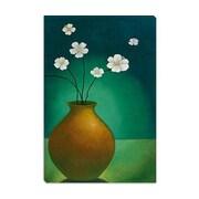 iCanvas ''Vase w/White Flowers'' by Pablo Esteban Canvas Painting Print; 12'' H x 8'' W x 0.75'' D