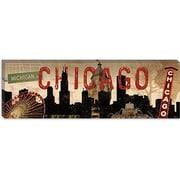 iCanvas Decorative Art Sparx Studio Chicago Skyline I Vintage Advertisement on Canvas