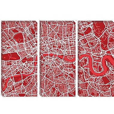iCanvas 'London Map III' by Michael Thompsett Graphic Art on Canvas; 40'' H x 60'' W x 1.5'' D