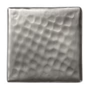 The Copper Factory Solid Hammered Copper 2'' x 2'' Decorative Accent Tile in Satin Nickel