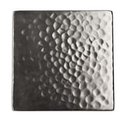 The Copper Factory Solid Hammered Copper 4'' x 4'' Decorative Accent Tile in Satin Nickel