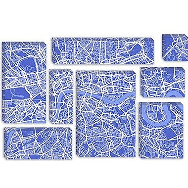 iCanvas 'London Map IV' by Michael Tompsett Graphic Art on Canvas; 26'' H x 40'' W x 1.5'' D
