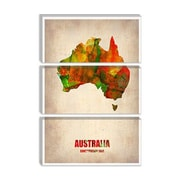 iCanvas Naxart Australia Watercolor Map Graphic Art on Canvas; 40'' H x 26'' W x 0.75'' D
