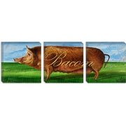 iCanvas Decorative Art ''Bacon'' by Gigi Begin Painting Print on Canvas; 12'' H x 36'' W x 1.5'' D