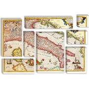 iCanvas Antique Maps of Italy Graphic Art on Canvas; 18'' H x 26'' W