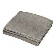 Creswick All-Natural Alpaca / Wool Fringed Throw; Cobblestone Black / Grey