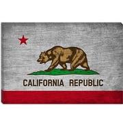 iCanvas California Flag, Grunge Vintage Advertisement on Canvas; 12'' H x 18'' W x 1.5'' D