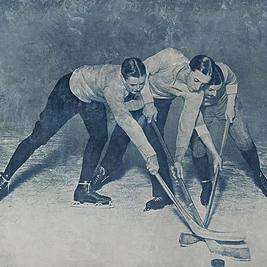 iCanvas Canada Vintage Hockey Game #4 Painting Print on Wrapped Canvas; 37'' H x 37'' W x 0.75'' D