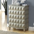 Monarch Specialties Inc. Bombay Cabinet; Brushed Silver