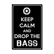 iCanvas Keep Calm and Drop the Bass Textual Art on Canvas; 18'' H x 12'' W x 1.5'' D