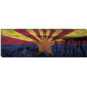iCanvas Arizona Flag, Grand Canyon Grunge Graphic Art on Canvas; 12'' H x 36'' W x 1.5'' D
