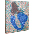 My Island Brunette Mermaid Mounted by Giclee Gerri Hyman Painting Print on Canvas