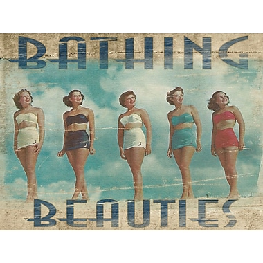 Graffitee Studios Coastal Bathing Beauties Graphic Art on Wrapped Canvas