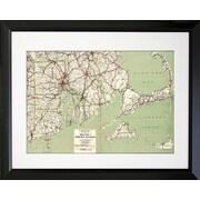 Graffitee Studios Cape Cod and RI Map Framed Graphic Art