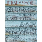 Graffitee Studios New Jersey Down The Shore - Jersey Shore Textual Art on Wrapped Canvas
