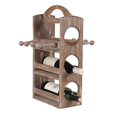 Wilco Home 3 Bottle Tabletop Wine Rack