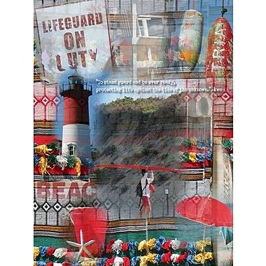 Graffitee Studios Coastal Lifeguard on Duty Graphic Art on Wrapped Canvas