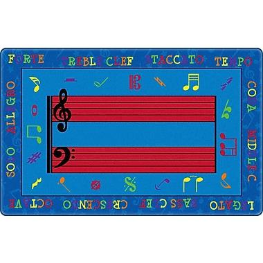 Flagship Carpets Fun w/ Music Kids Rug; 7'6'' x 12'