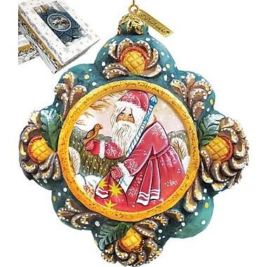 G Debrekht Quiet Time Santa Ornament