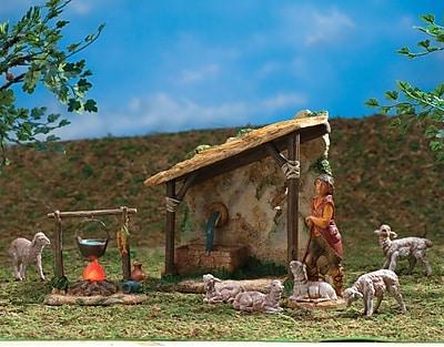 Fontanini Shepherd's Shelter Figurine