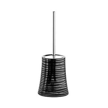 Gedy by Nameeks Diva Free Standing Toilet Brush and Holder; Anthracite/Silver