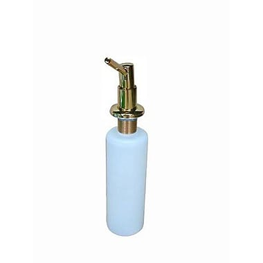 Elements of Design Decorative Soap Dispenser; Polished Brass