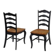 Home Styles French Countryside Side Chair (Set of 2); Black