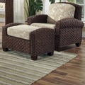 Home Styles Cabana Banana II Chair and Ottoman; Cinnamon