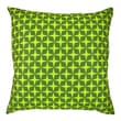 NECTARmodern Star Printed Graphic Polyester/Linen Throw Pillow; Green