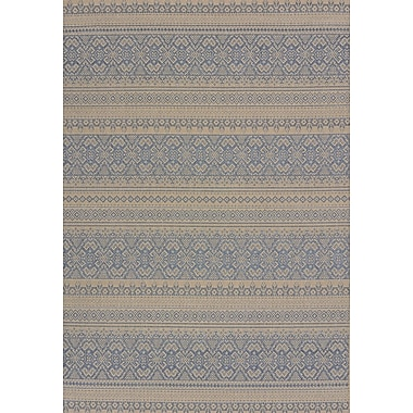 United Weavers of America Solarium Blue Alfresco Indoor/Outdoor Area Rug; 5'3'' x 7'6''