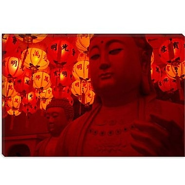 iCanvas Photography Buddha Statue Photographic Print on Canvas; 40'' H x 60'' W x 1.5'' D
