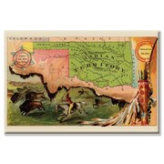 Buyenlarge Oklahoma Graphic Art on Canvas; 20'' H x 30'' W