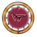 Wave 7 NCAA 18'' Team Neon Wall Clock; Virginia Tech