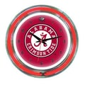 Wave 7 NCAA 14'' Team Neon Wall Clock; Alabama