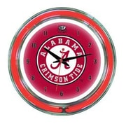 Wave 7 NCAA 14'' Team Neon Wall Clock; Alabama