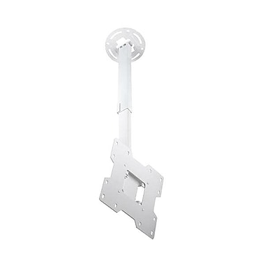 Peerless-AV® PC932C Ceiling Mount For Flat Displays, 80 lb. Capacity, White