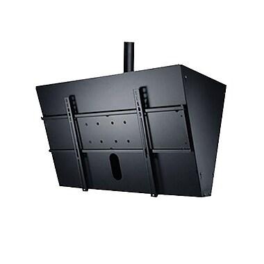 Peerless-AV® DST965 Fixed Tilt Ceiling Mount With Media Player Storage For Flat Displays, 300 lb. Capacity, Black