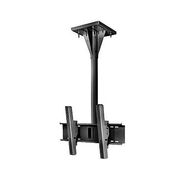 Peerless-AVMD – Support de plafond pivotant résistant au vent ECMU-04-I de 4 po sur poutre en I pour écran plat, noir