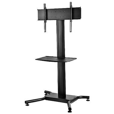 Peerless-AV® Flat Panel Floor Stand With Metal Shelf, 150 lb. Capacity, Black