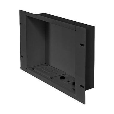 Peerless-AV® IBA2 Cable Management & Power Storage Accessory In-Wall Box W/Duplex Receptacle, Black