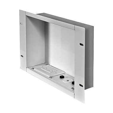 Peerless-AV® IBA2 Cable Management & Power Storage Accessory In-Wall Box W/Duplex Receptacle, White